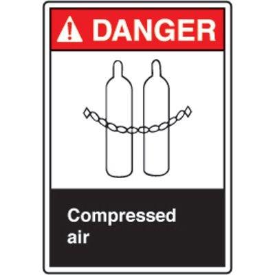 ANSI Safety Signs - Danger Compressed Air