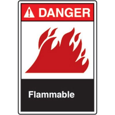 ANSI Safety Signs - Danger Flammable