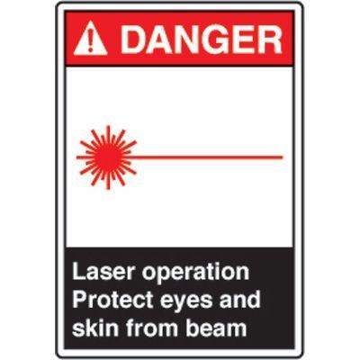ANSI Safety Signs - Danger Laser Operation