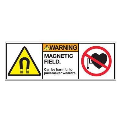 ANSI Z535 Safety Labels - Warning Magnetic Field