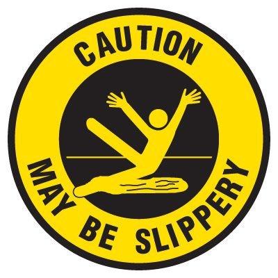 Anti-Slip Floor Markers - Caution May Be Slippery