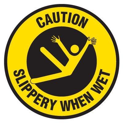 Anti-Slip Floor Markers - Caution Slippery When Wet