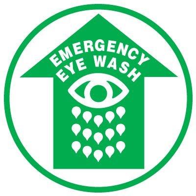 Anti-Slip Floor Markers - Emergency Eye Wash