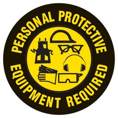 Anti-Slip Floor Markers - Personal Protective Equipment Required