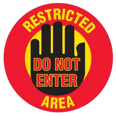 Anti-Slip Floor Markers - Restricted Area Do Not Enter