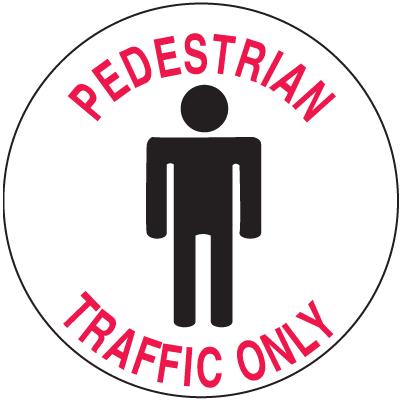 Anti-Slip Safety Floor Markers - Pedestrian Traffic Only