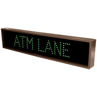 Atm Lane Direct View Sign