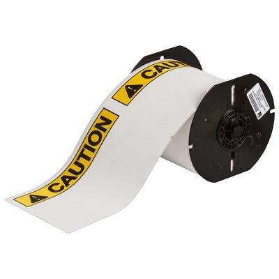 Brady B30-25-854-ANSICA B30 Series Label - Black/Yellow on White