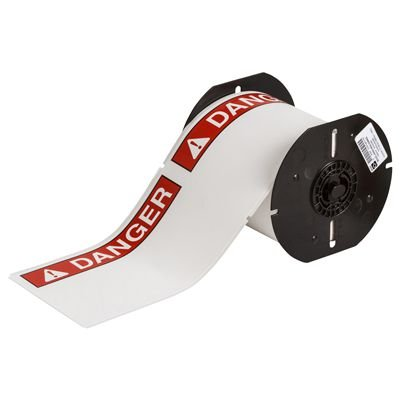 Brady B30-25-855-ANSIDA B30 Series Label - Red on White