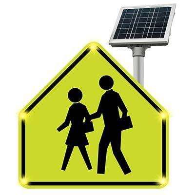 BlinkerSign® Flashing LED Pedestrian Crossing Sign