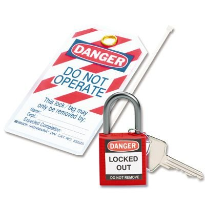 Brady Personal Lock Kit with Red Compact Safety Lock & Heavy Duty Tage (123143)