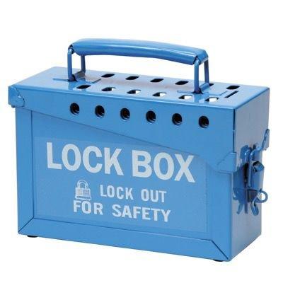 Brady Portable Metal Blue Metal Lockbox - Accommodates 12 Safety Locks (45190)