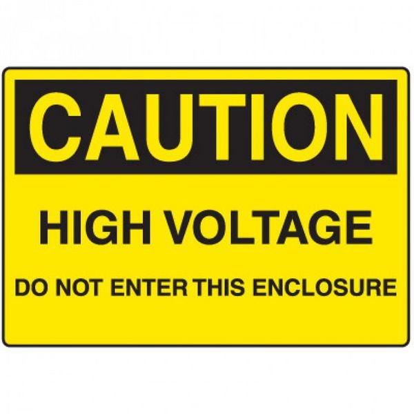 Electrical Hazard Signs - Caution High Voltage