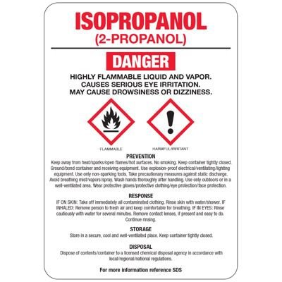 Isopropanol (2-Propanol) GHS Sign