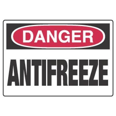 Chemical Hazard Danger Sign - Antifreeze