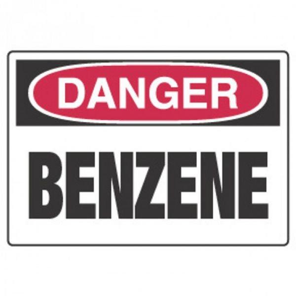 Chemical Hazard Danger Sign - Benzene