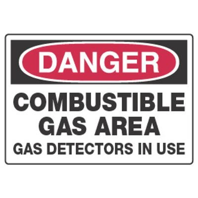 Chemical Hazard Danger Sign - Combustible Gas Area