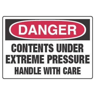Chemical Hazard Danger Sign - Under Extreme Pressure