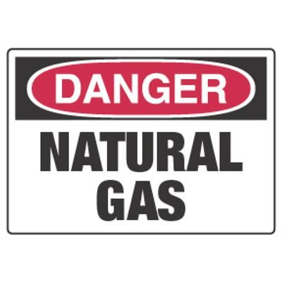 Chemical Hazard Danger Sign - Natural Gas