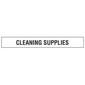 Clear Floor Tape Labels - Cleaning Supplies