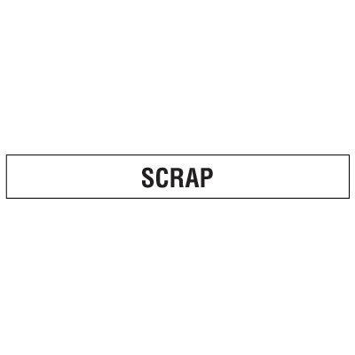 Clear Floor Tape Labels - Scrap
