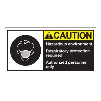 Conveyor Safety Labels - Caution Hazardous Environment