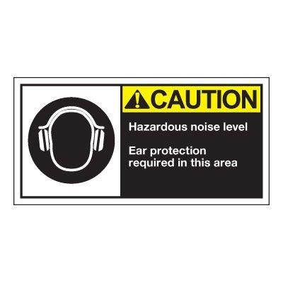 Conveyor Safety Labels - Caution Hazardous Noise