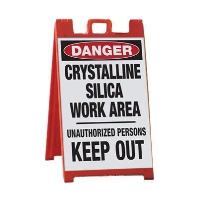 Crystalline Silica Work Area - Silica Barricade Signs