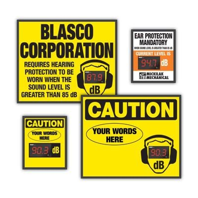 Custom Decibel Meter Signs