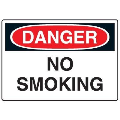 Danger Signs - No Smoking