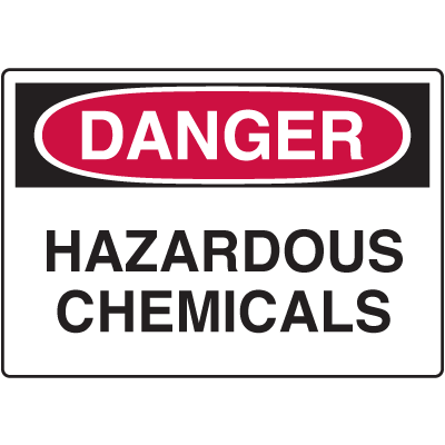 Danger Signs - Hazardous Chemicals