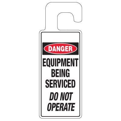 Door Knob Hangers - Equipment Being Serviced