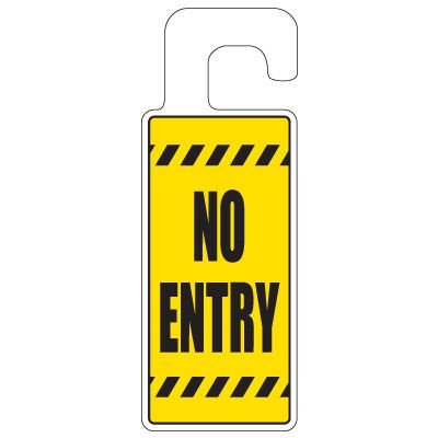 Door Knob Hangers - No Entry