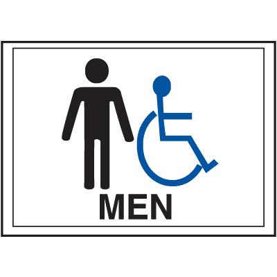 Economy Front Office Signs - Men/Handicap