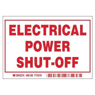 Brady Electric Power Shutoff Labels
