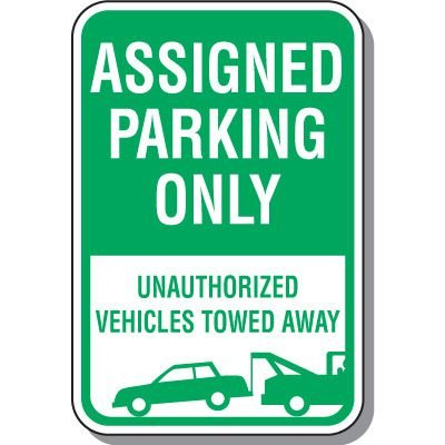 Employee Parking Signs - Assigned Parking Only
