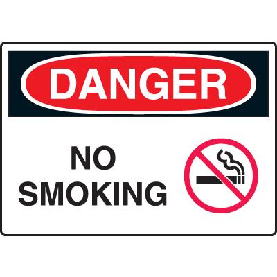 Extra Large OSHA Signs - Danger - No Smoking