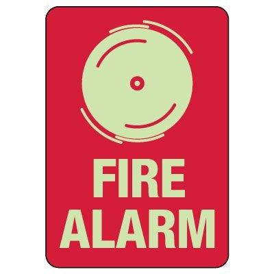 Fire Alarm Photoluminescent Sign