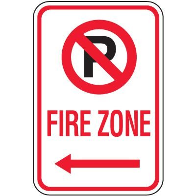 Fire Lane Signs - Fire Lane(Left Arrow)