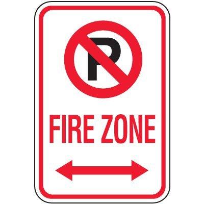 Fire Lane Signs - Fire Zone (Double Arrow)