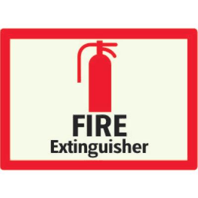 Fire Extinguisher - Photoluminescent Sign