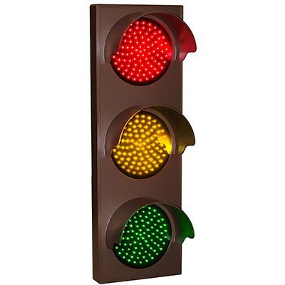 Flash Hooded Direct View Signs - Red/Amber/Green