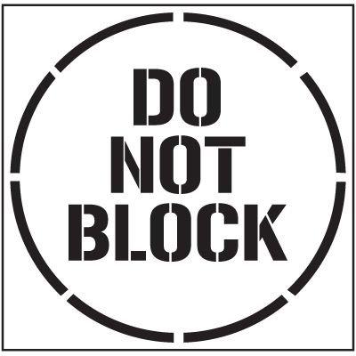 Floor Stencils - Do Not Block