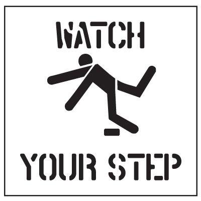 Floor Stencils - Watch Your Step