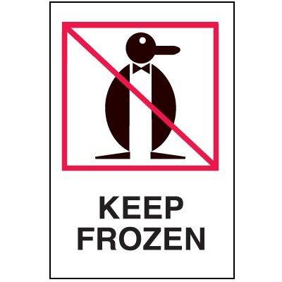 Fragile Labels - Keep Frozen