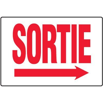Enseignes De Sortie D'Incendie - Sortie (Flèche Droite)