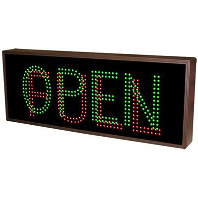 Full Direct View Sign - Open