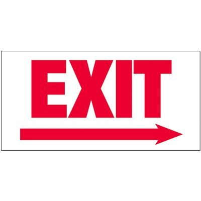 Giant Exit Wall Signs With Right Arrow