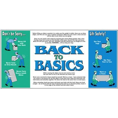 Giant Instructional Wall Graphics - Back to Basics Lift Safely