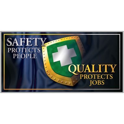Giant Safety Posters - Safety Protects People